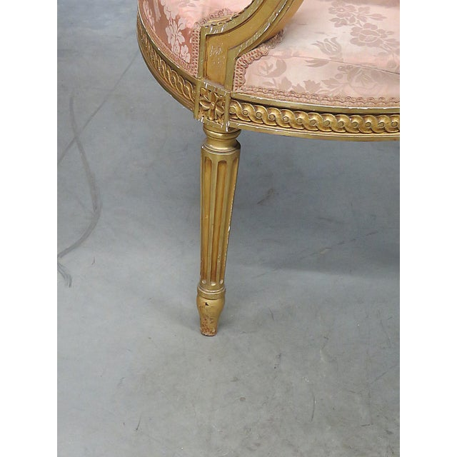 French Regency Style Arm Chairs - a Pair For Sale - Image 10 of 13