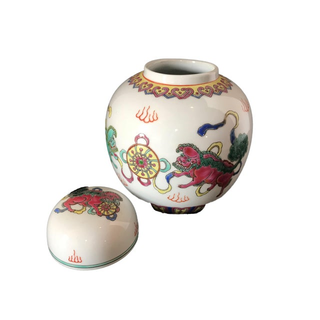 Old Chinese Porcelain Famille Rose Ginger Jar 6 H Chairish