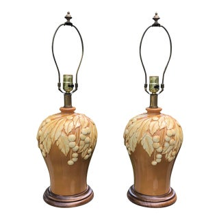 Frederick Cooper Ceramic Lamps - a Pair For Sale
