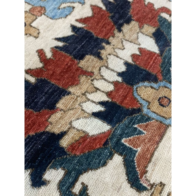 "White Contemporary Hand Weaved Kazak Rug-11'8"" X 14'5"" For Sale - Image 8 of 12"