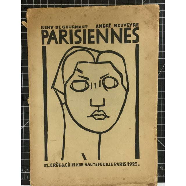 Parisiennes - Fine Line Drawings (lithographic prints) by André Rouveyre with text by Remy de Gourmont, 1923. There are...