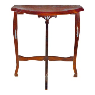 Antique Carved Half Moon Demi Lune Table For Sale
