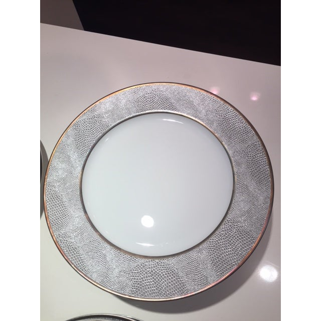 Ceramic Bernardaud Sauvage Pattern Dinnerware Set of 8 Dinner and Salad (Or Dessert) Plates For Sale - Image 7 of 13