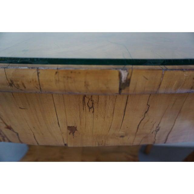 Birch 19th Century Austrian Biedermeier Birch Antique Pier Table For Sale - Image 7 of 13