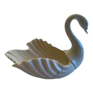 1970s Lenox China Large Swan Bowl For Sale