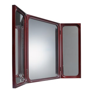 Frode Holm fold-out triptych wall mirror for Illums Bolighus, Denmark For Sale
