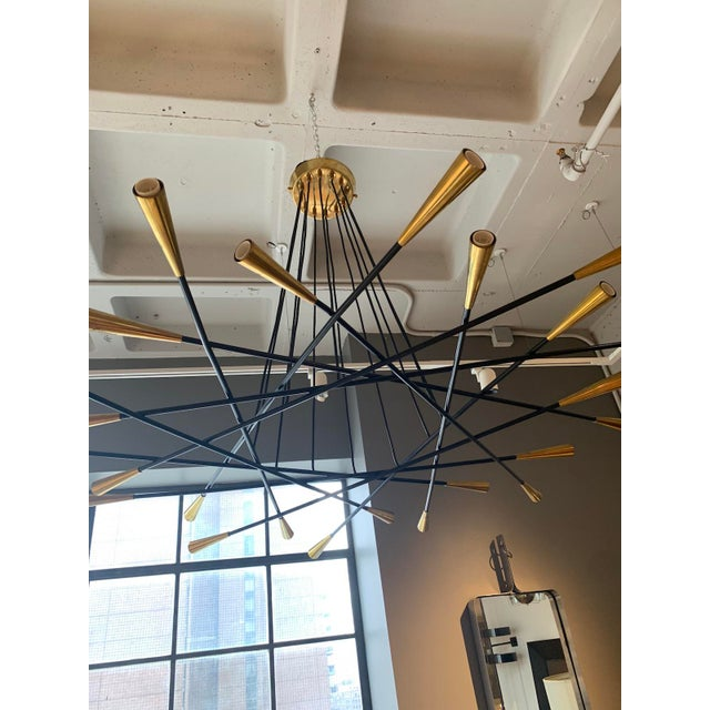 Mid-Century Modern 1960s Mid-Century Grand Scaled Twenty Four Light Chandelier, Italy For Sale - Image 3 of 4