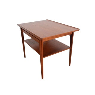 Finn Juhl France & Son Danish Modern Teak Side Table For Sale