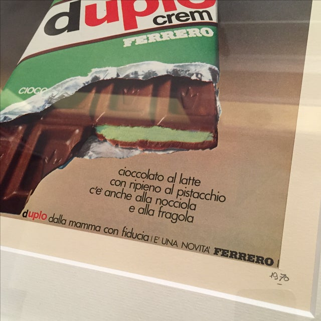 1970 Vintage Advertising Print Ferrero Duplo Crem - Image 5 of 6