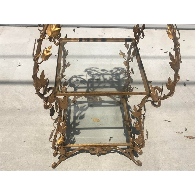 Gold Leaf 1940's French Provincial Style Italian Gold Gilt Vine Four Shelf Etagere For Sale - Image 7 of 12