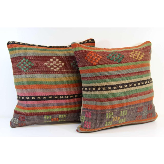 Turkish Kilim Pillow Covers - A Pair - Image 6 of 6