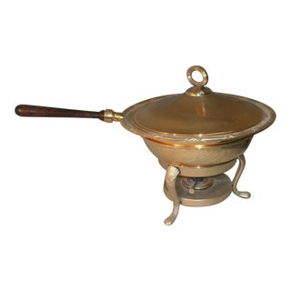 Vintage Towle Silverplate Gold Electroplated Chafing Server For Sale