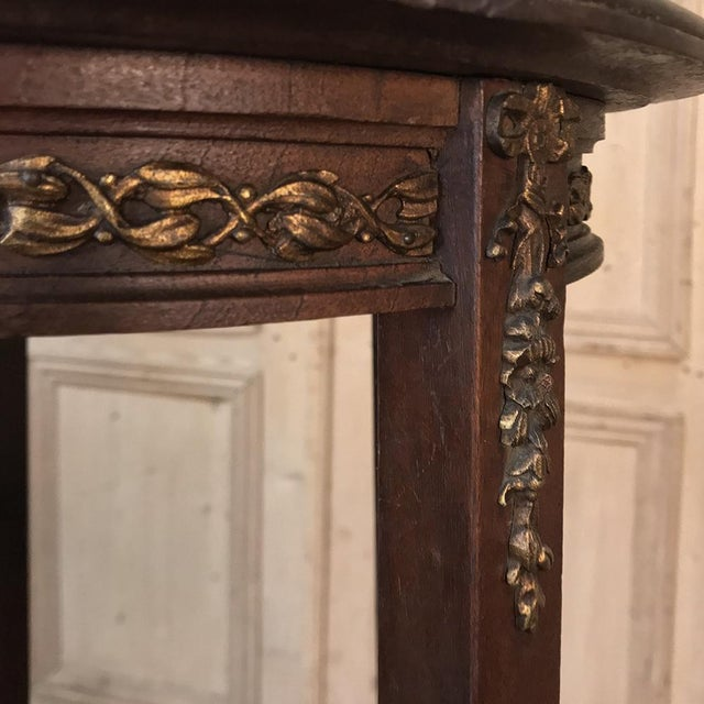 19th Century French Louis XVI Mahogany Pedestal With Bronze Mounts For Sale - Image 4 of 11