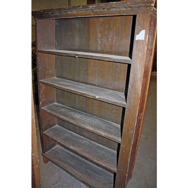 Primitive Two Sided Oak Book Shelf For Sale - Image 3 of 5