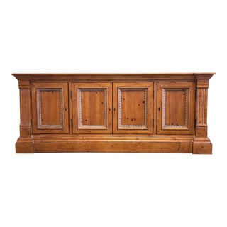 Ethan Allen Townhouse Collection Pine Credenza For Sale
