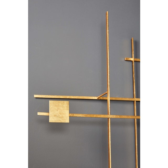 Gold Enamel and Gold Leaf Sculpture by Robert Hogue For Sale - Image 8 of 8