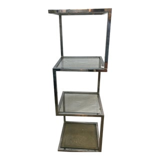 Milo Baughman Chrome & Glass Etagere For Sale