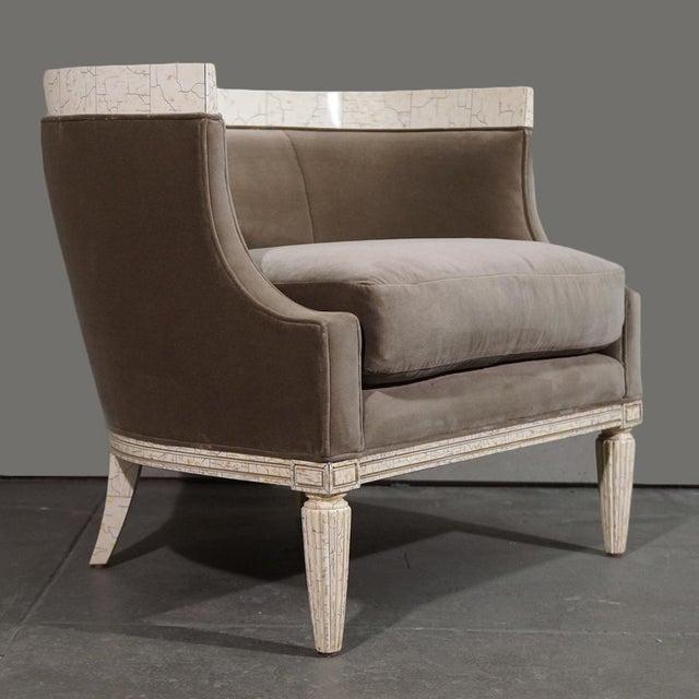 Velvet Barrel Chair - Image 8 of 8