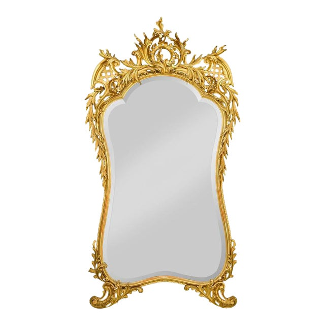 Louis XV Style Gold Leaf Mirror For Sale