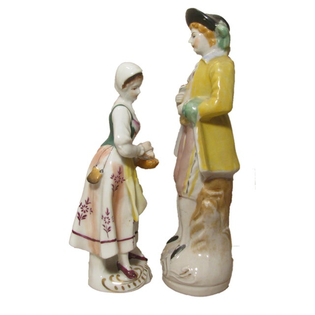 Americana Staffordshire Style Figurines - A Pair For Sale - Image 3 of 5