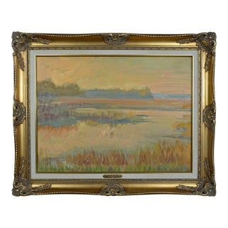 """Framed Painting by Grigory Stepanyants """"Sunset on Saw Mill Creek"""" Hilton Head South Carolina For Sale"""