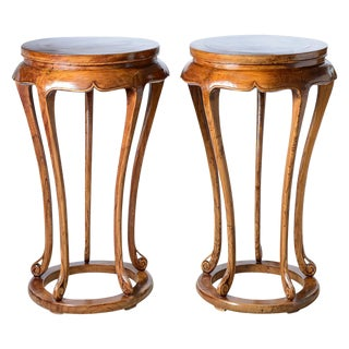 Antique Chinese Plant Stands/Pedestals , A-Pair For Sale