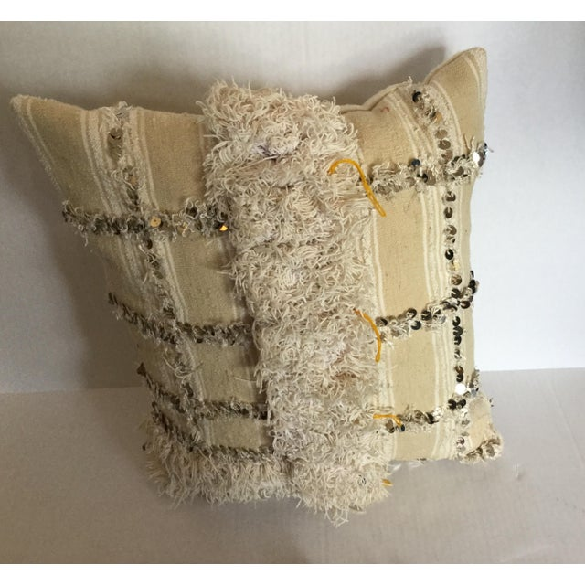 Moroccan Wedding Blanket Pillow - Image 3 of 4