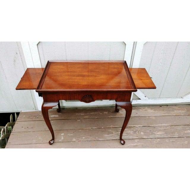 Metal Vintage Traditional Brandt Mahogany Tea Table For Sale - Image 7 of 13