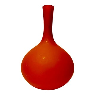 1960s Rosenthall Netter Italian Modern Orange Vase For Sale