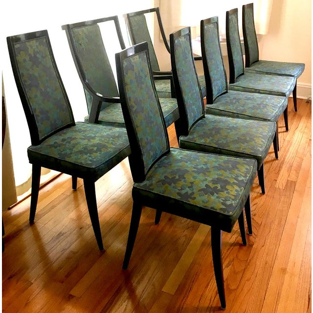 Brown Harvey Probber Dining Table & Chairs For Sale - Image 8 of 11
