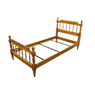 Late 20th Century Ethan Allen Heirloom Nutmeg Maple Twin Size Bed For Sale