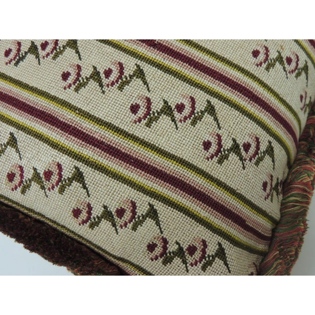 Hollywood Regency Antique Tapestry Petite Floral Decorative Pillow For Sale - Image 3 of 5