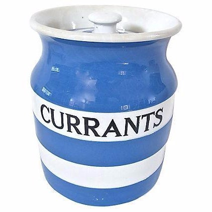 Vintage English Cornishware Currants Canister - Image 1 of 3