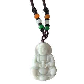 Jadeite Jade Carved Buddha Wealth Figure For Sale