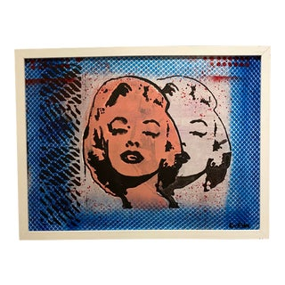 "After Andy Warhol ""Twin Marilyn"" Signed by Roy Eder For Sale"