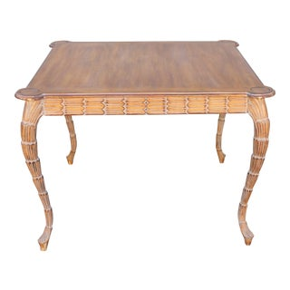 Mid-Century Modern Carved Palm Game Table