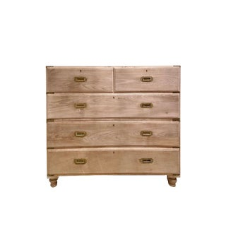 Vintage Bleached English Campaign Chest For Sale