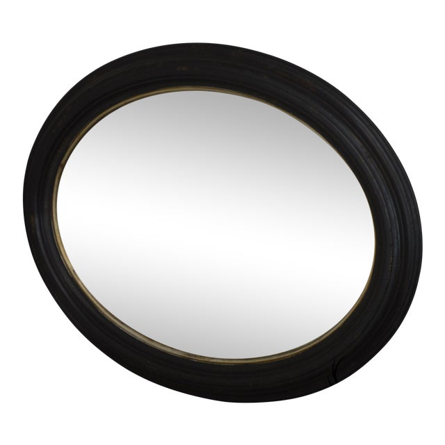 Roma Large Oval Frame Italian Wall Mirror For Sale