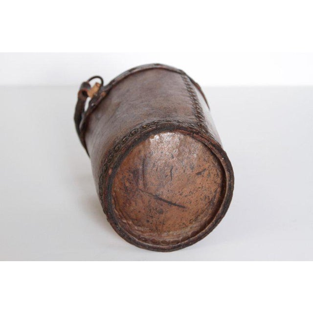 A 19th Century English Leather Fire Bucket For Sale - Image 12 of 13