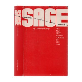 "1985 ""Signed First Edition, Sage: They Called Him 'Daggar' of the o.s.s."" Collectible Book For Sale"