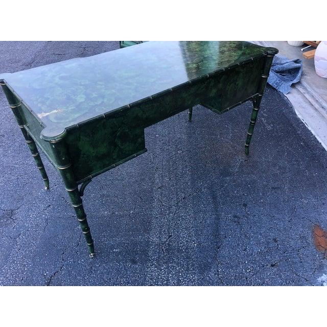 Antique Painted Malachite Desk For Sale - Image 9 of 13