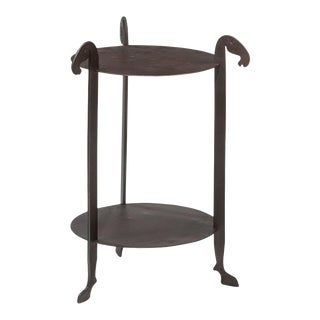 Sarreid Forged Horse Leg Side Table For Sale