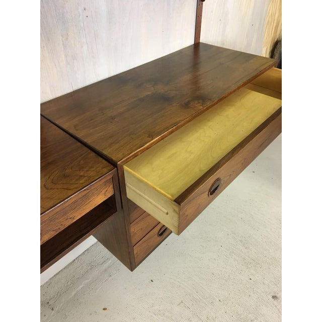 Rosewood HG Danish Rosewood Wall Mounted Unit by Rud Thygesen and Johnny Sorenson For Sale - Image 7 of 13