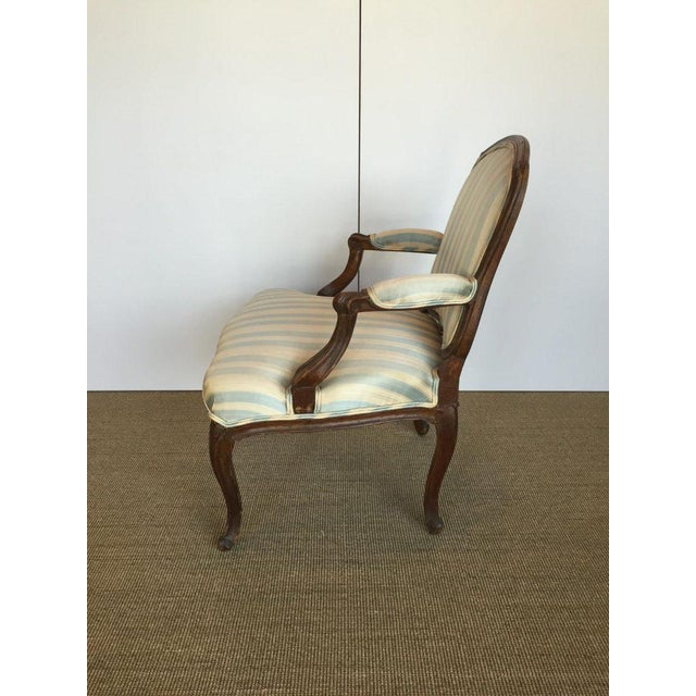 Louis XV 18th C. Louis XV French Walnut Armchair For Sale - Image 3 of 4