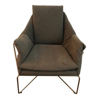 Benson Green Upholstered Chair For Sale
