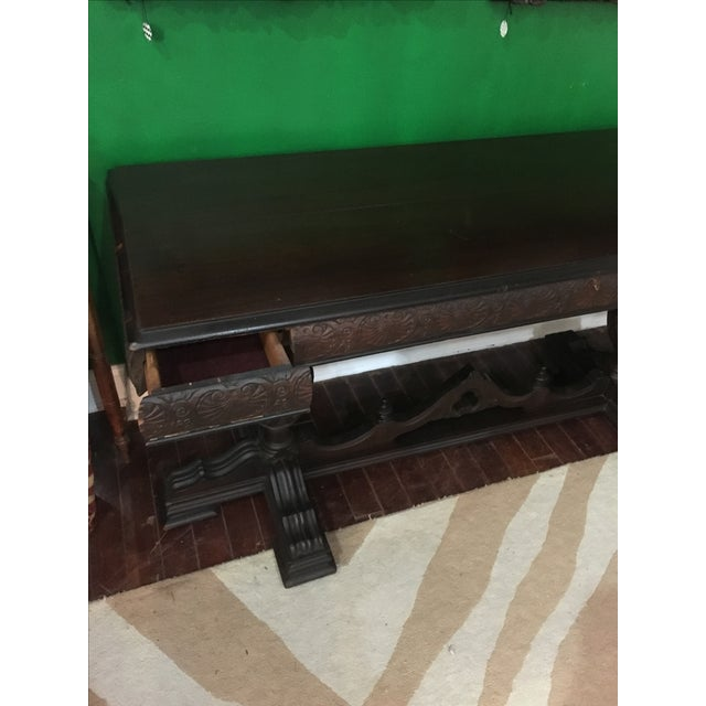 Antique Adjustable Library Table - Image 4 of 10