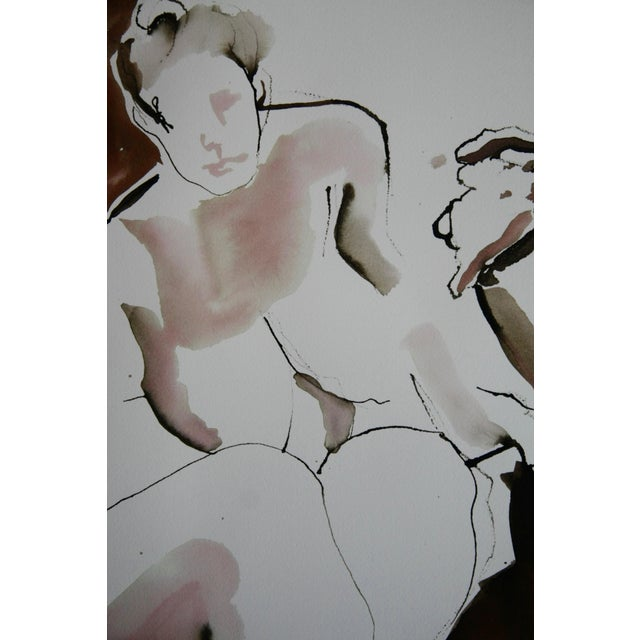 Watercolor and ink drawing of a live model in different poses. On heavyweight cotton archival paper. Delivered in a...