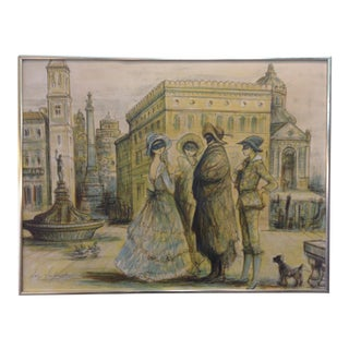 1977 Masquerade a Venice Litho Print by Jacques Lalande For Sale