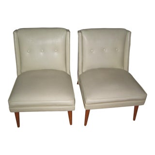 Pair of Mid-Century Slipper Chairs 1960s For Sale
