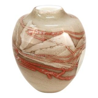 Robert DuGrenier Modern Studio Art Glass Vase, Signed For Sale